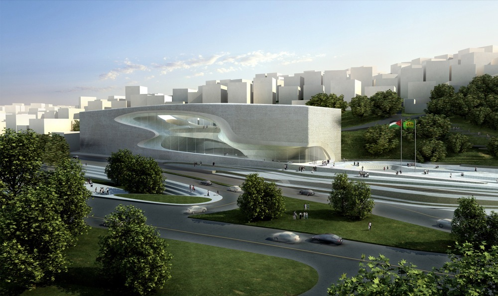 King Abdullah Ii House Of Culture Art_exterior on Exterior House Design