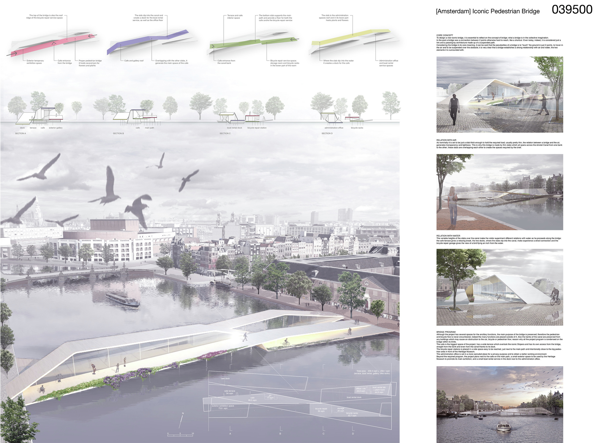 Gallery of amsterdam pedestrian bridge proposal for Design bridge amsterdam