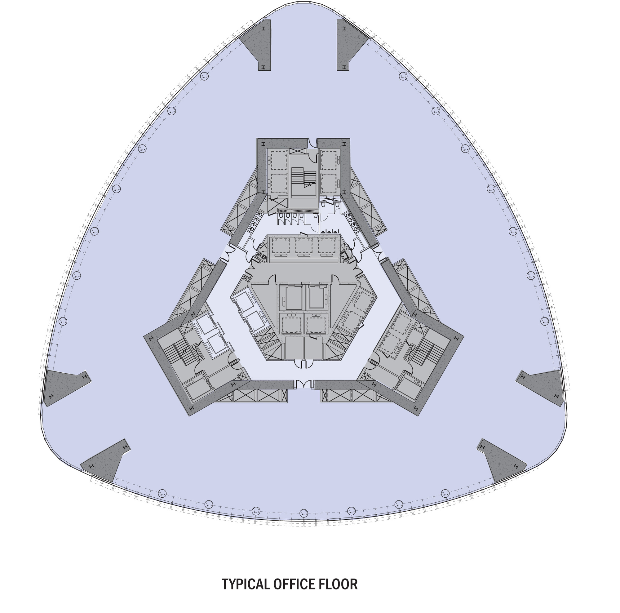 Oval Office Floor Plan Gallery Of Busan Lotte Town Tower Som 6