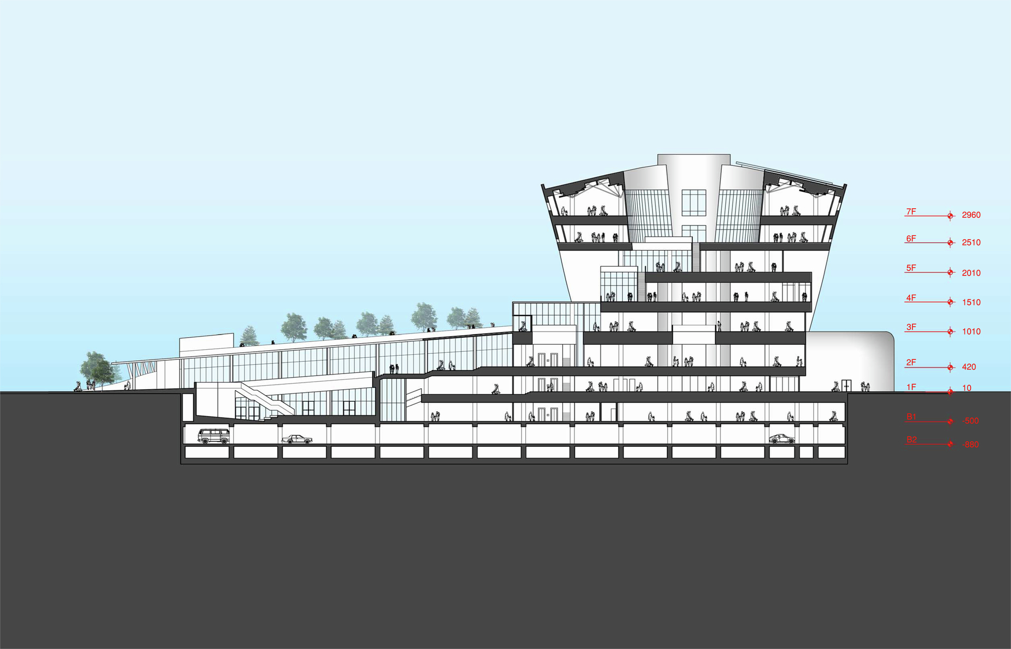 Gallery of kaohsiung library competition proposal mak for Architects corporation