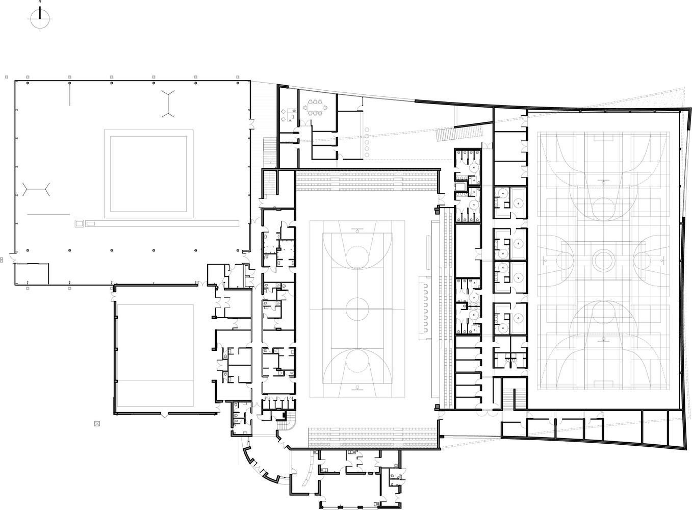 Gallery of sports complex data architects 3 sports complex data architectsfloor plan malvernweather Gallery