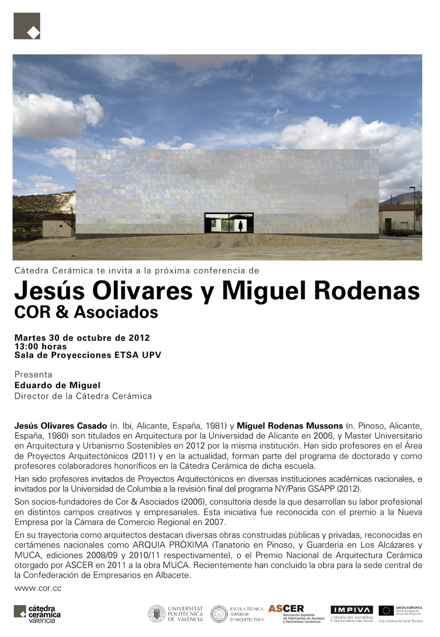 Calendario Etsa Upv.Conferencia Cor Asociados En La Universidad Politecnica De