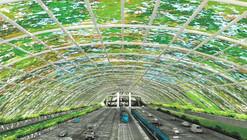 Cristian Boza propone una cubierta vegetal sobre la Autopista Central en Santiago