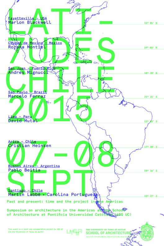 Congreso LATITUDES 7: ocho arquitectos de las Américas en Arquitectura UC / Santiago