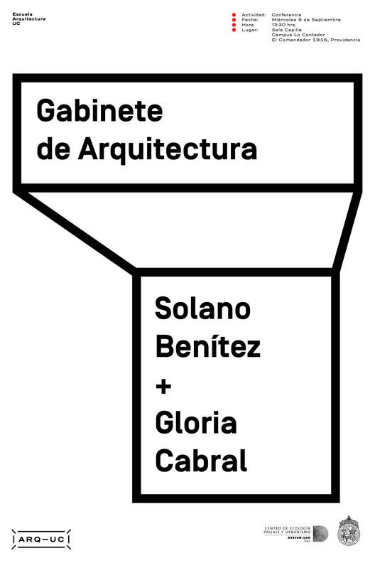 Conferencia Solano Benítez y Gloria Cabral en Arquitectura UC