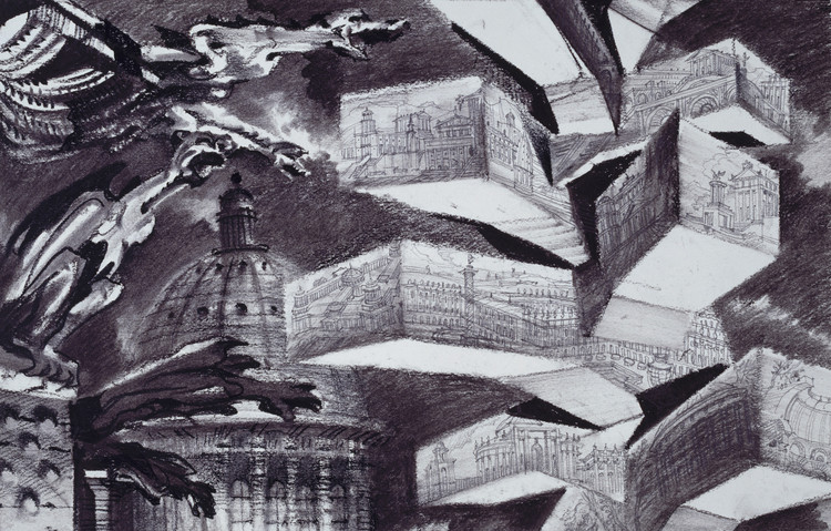 Lecture: Sergei Tchoban: Drawing a Museum of Drawings at the Cornell University, Fantasy drawing for the project of the Museum for Architectural Drawing in Berlin or Evolution of form.