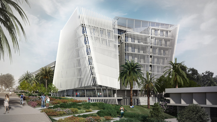 o2a's Proposed Tel Aviv University Building Controls Natural Light and Wind for a Sustainable Solution, Courtesy of o2a Studio