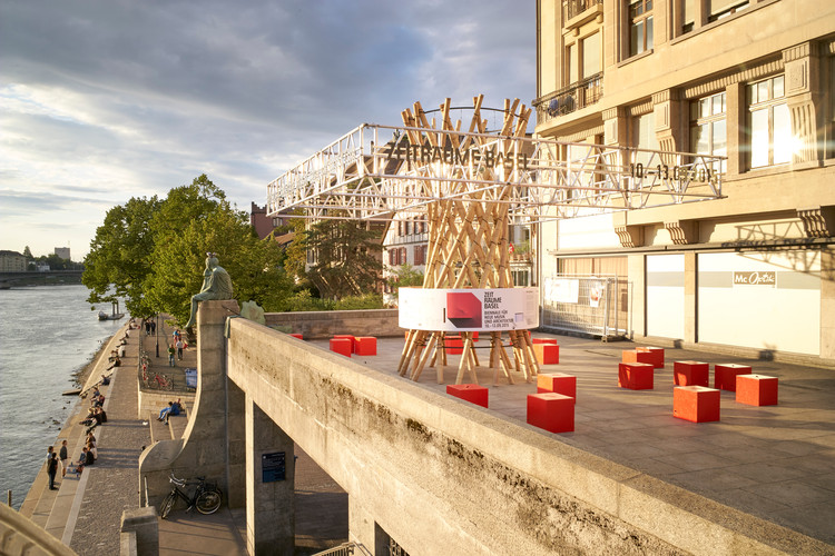 HHF Architects Design Moving Pavilion for ZeitRäume in Basel, © Julien Lanoo
