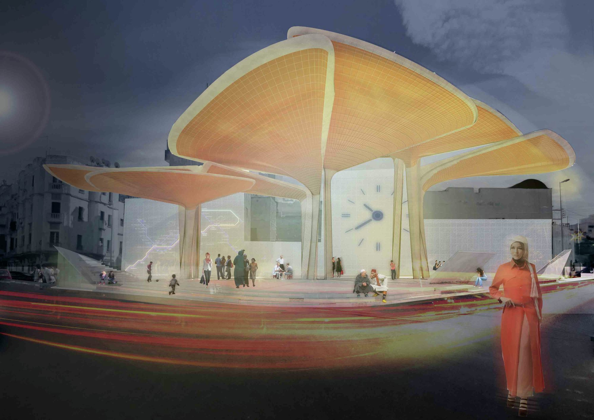 Gallery of sustainable market square winning proposal for 9 square architecture