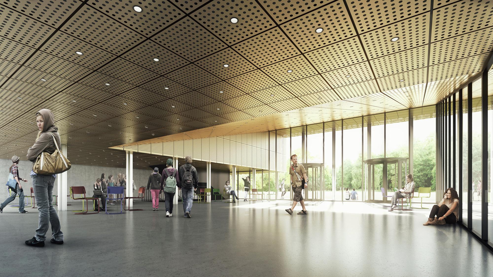 Foyer D Etudiant Architecture : Gallery of building o university antwerp auditorium
