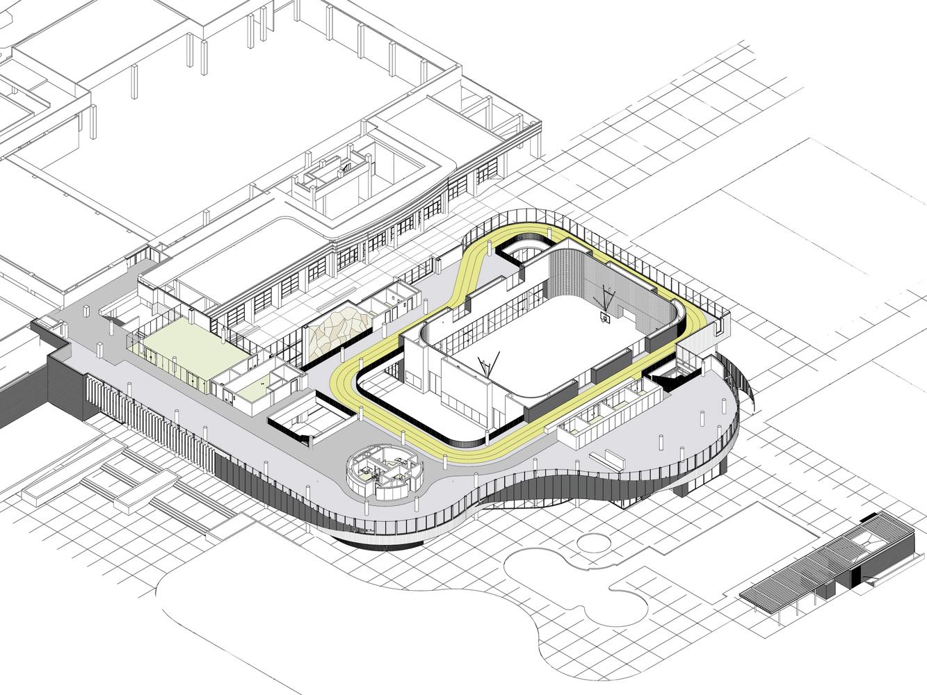 University Of California Riverside Student Recreation Center Expansion /  Cannon Design,axonometric Floor Plan 02