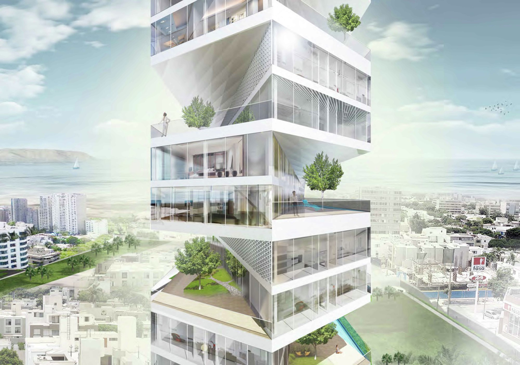 Writhing Tower / LYCS Architecture | ArchDaily
