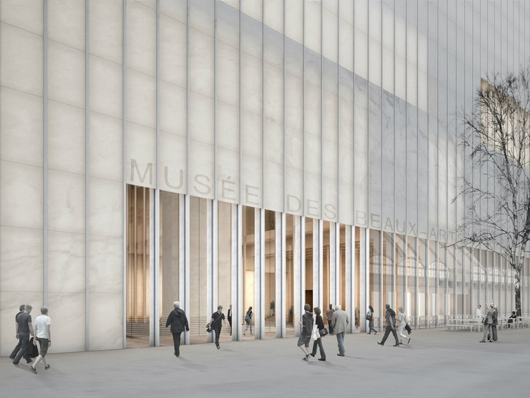 Mus e des beaux arts david chipperfield architects for Marmol traslucido