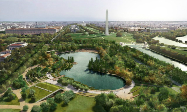National mall finalists exhibit designs archdaily for Nelson byrd woltz landscape architects