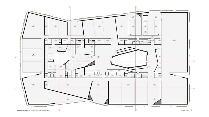 Gallery of museum of modern art in warsaw mmaw camilo for Plan architecture moderne