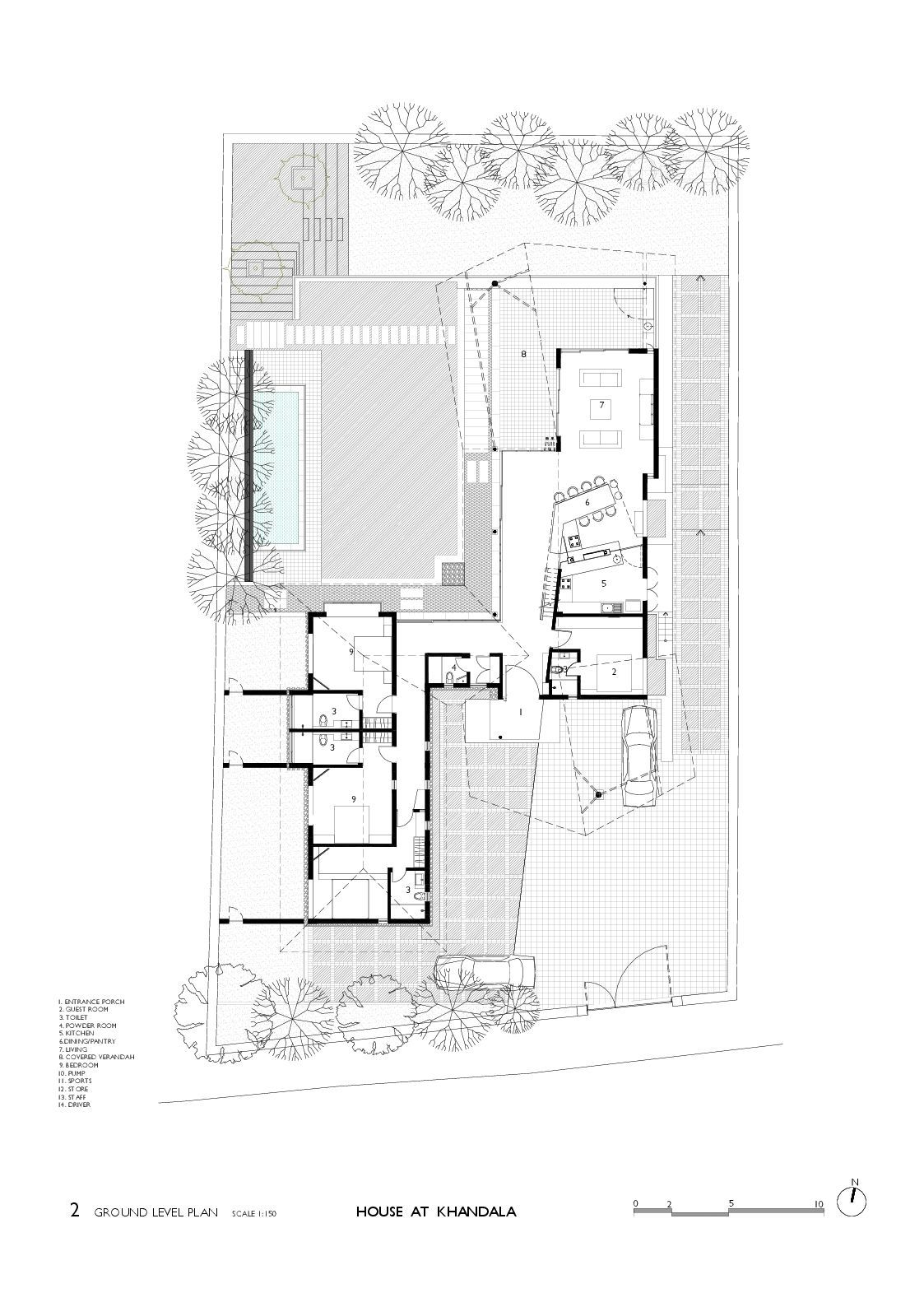 Gallery of House in Khandala / Opolis architects - 15 on christmas story house floor plan, gatsby house floor plan, barbie house floor plan, incredibles house floor plan, frodo baggins house floor plan,
