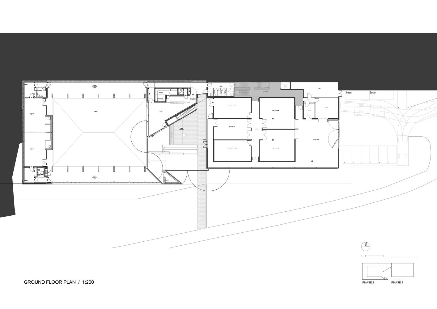 Making Space For Making Art,Ground Floor Plan