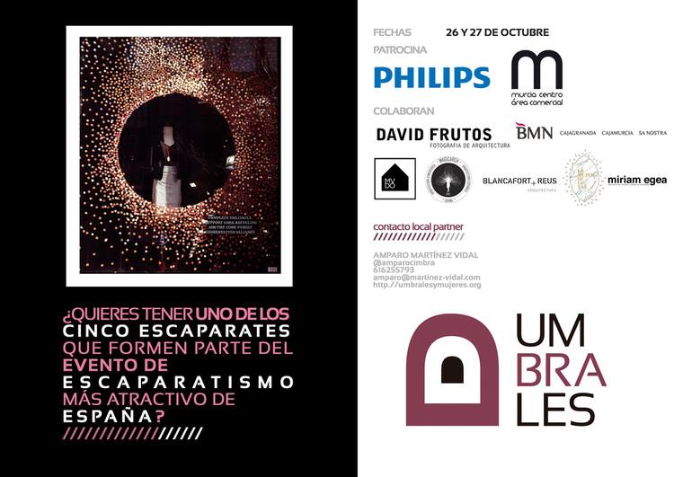Umbrales: acciones escaparatistas para mujeres profesionales / Murcia, Martínez Vidal Design Office