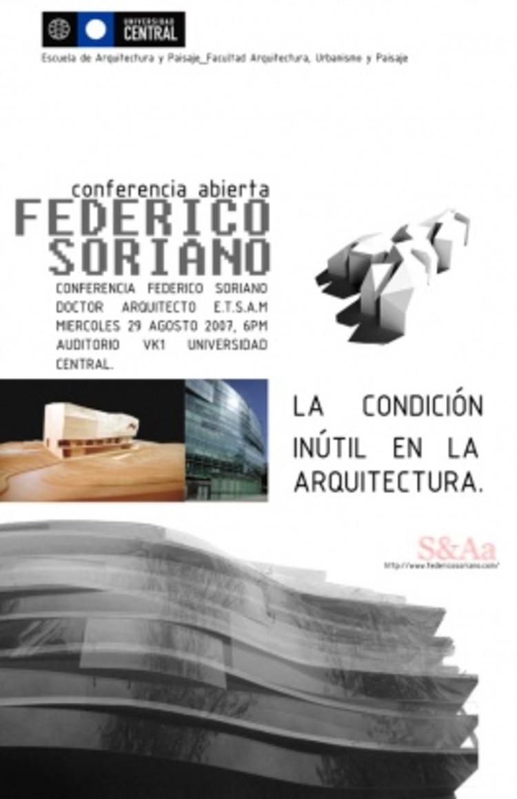 Charlas: Federico Soriano, Rodrigo de la Cruz