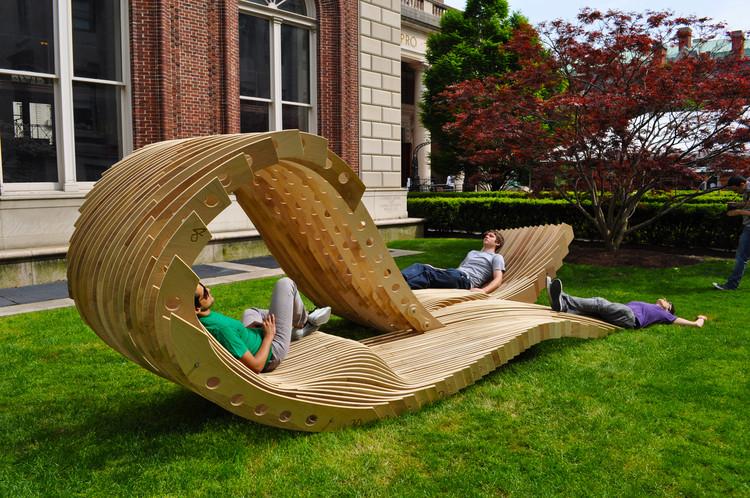 visual permeability pavilion / columbia university graduate school