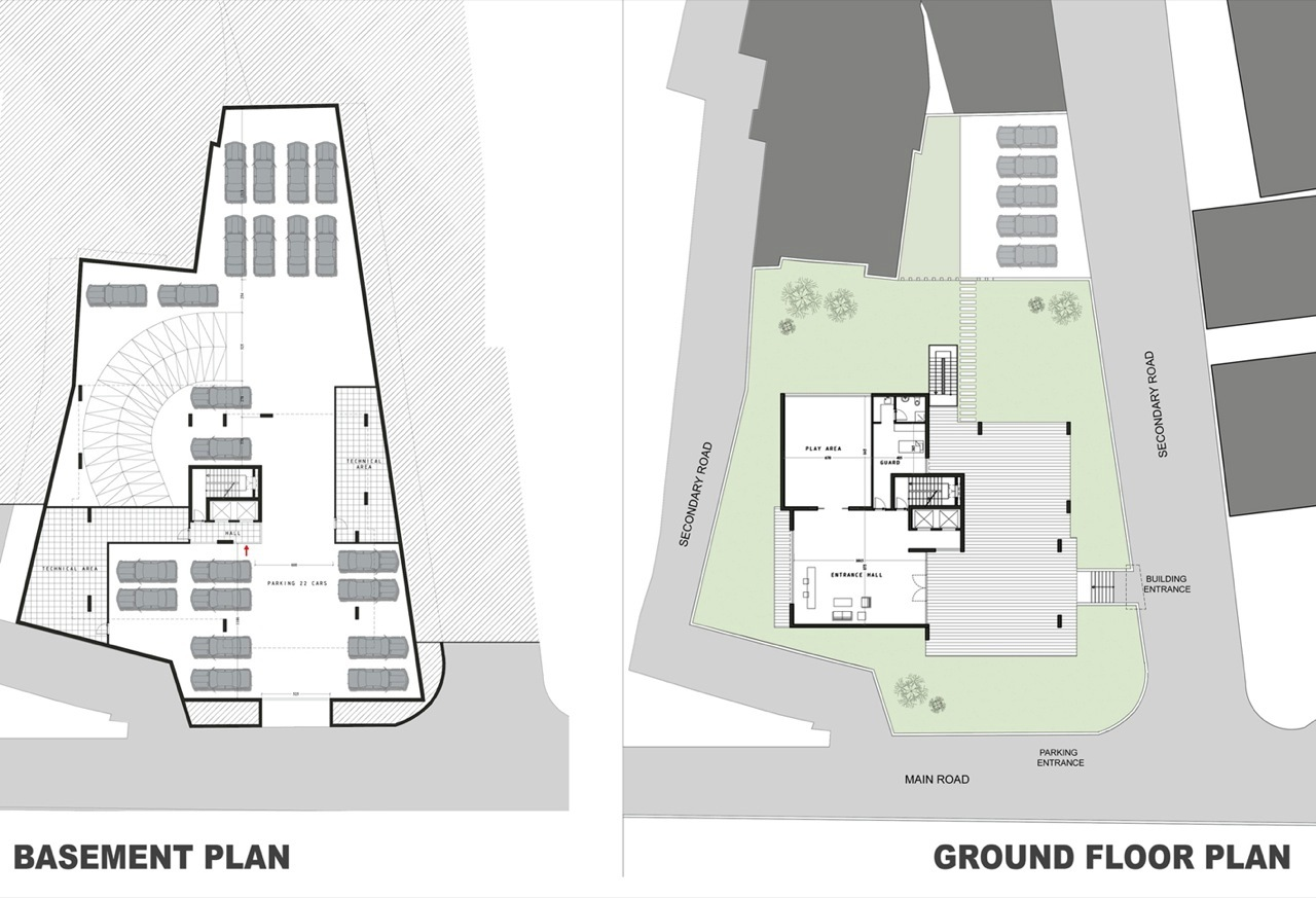 Gallery of beirut observatory accent design group 8 for Residential building floor plan