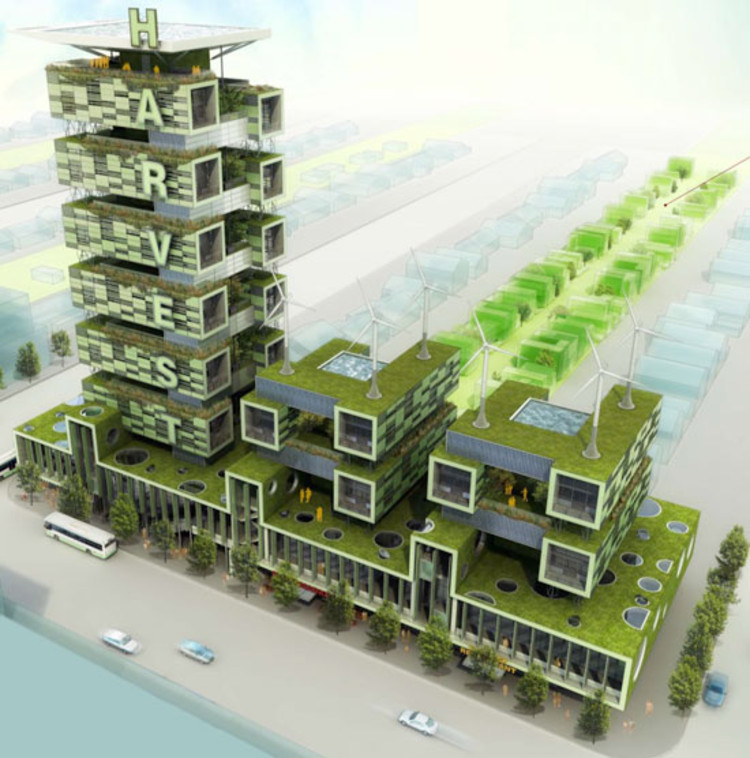 Vertical Farming Chicago: Harvest Green Project / Romses Architects