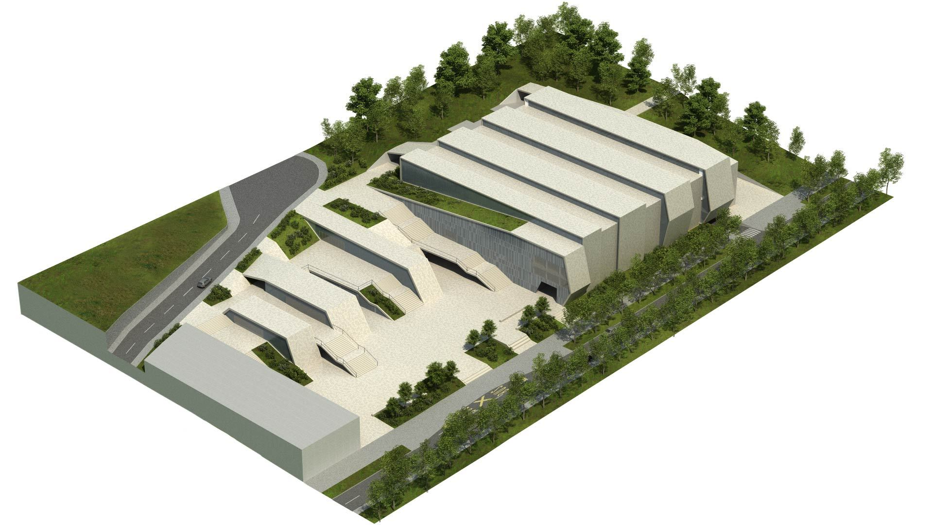 Gallery of 3lhd wins the zamet centre competition 10 for Linear architecture design
