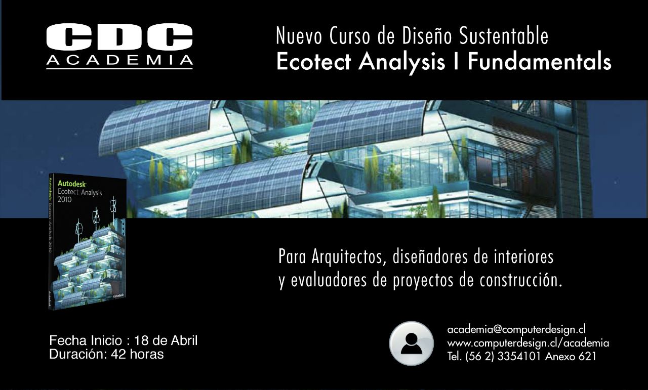 Curso de dise o sustentable ecotect analysis cdc for Aulas web arquitectura