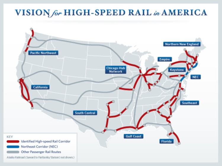 New HighSpeed Rail Plan for the US ArchDaily