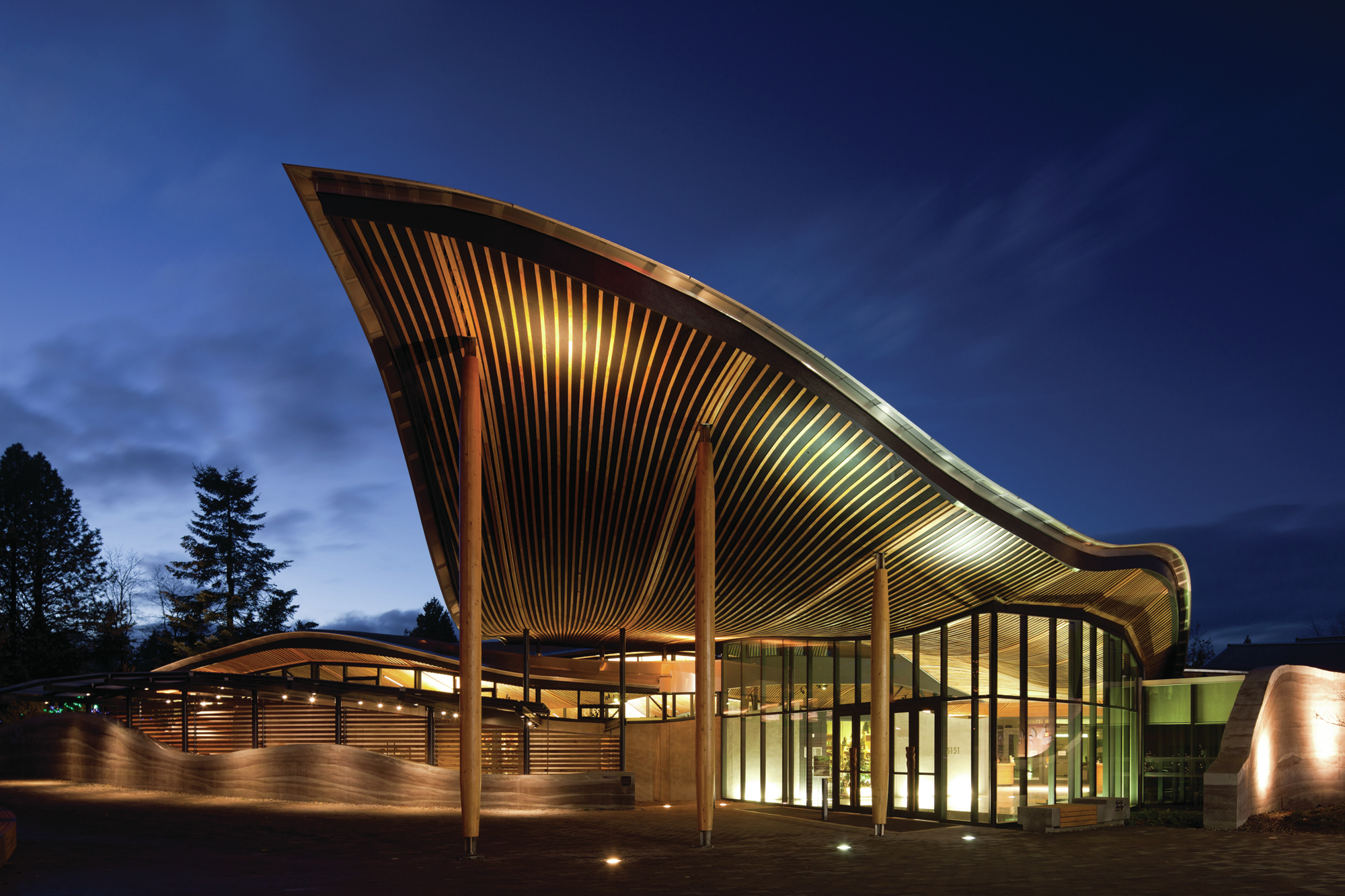 Gallery of vandusen botanical garden visitor centre for Www architecture