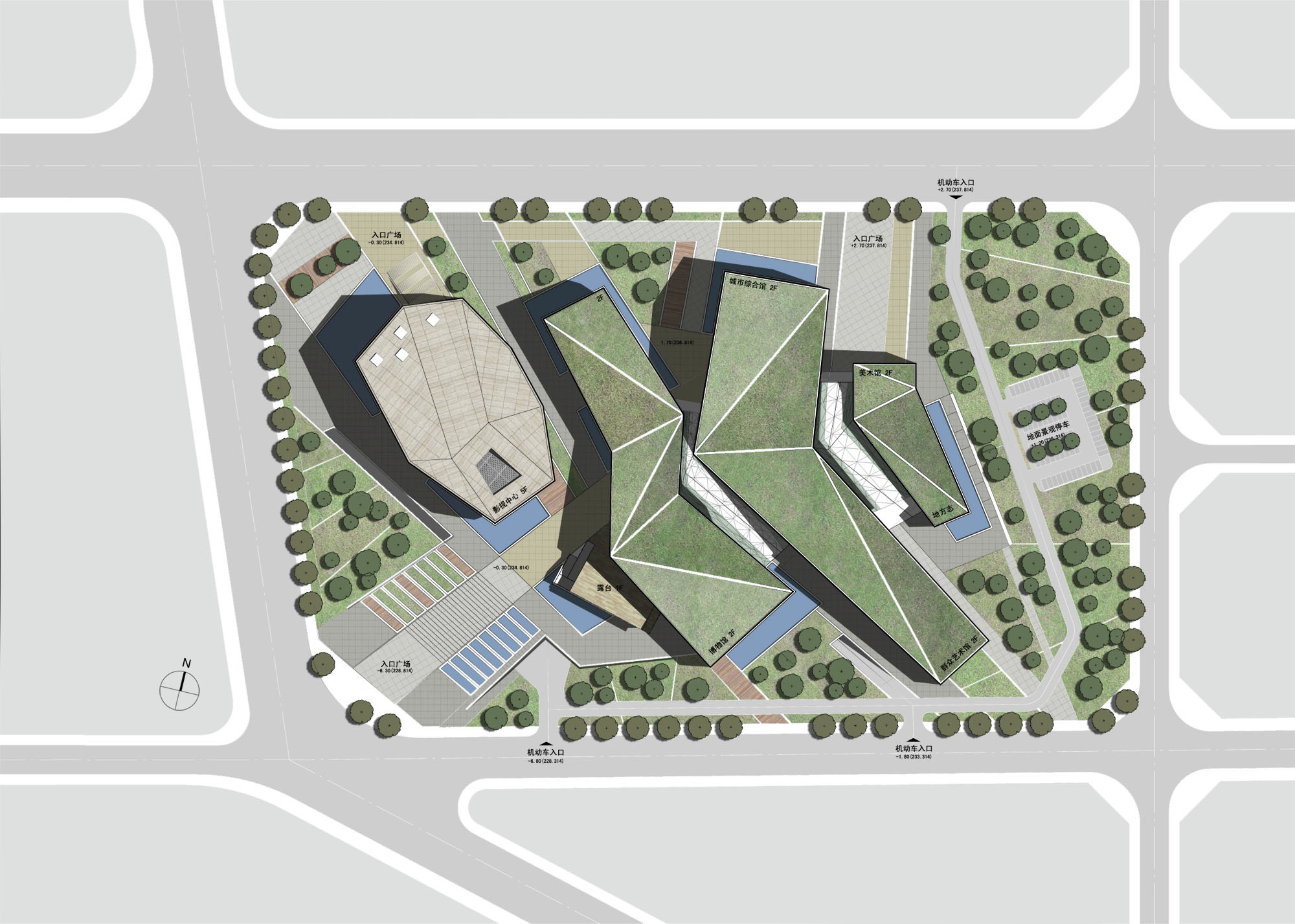 Exhibition Plan D : Gallery of huaihua theater and exhibition center proposal