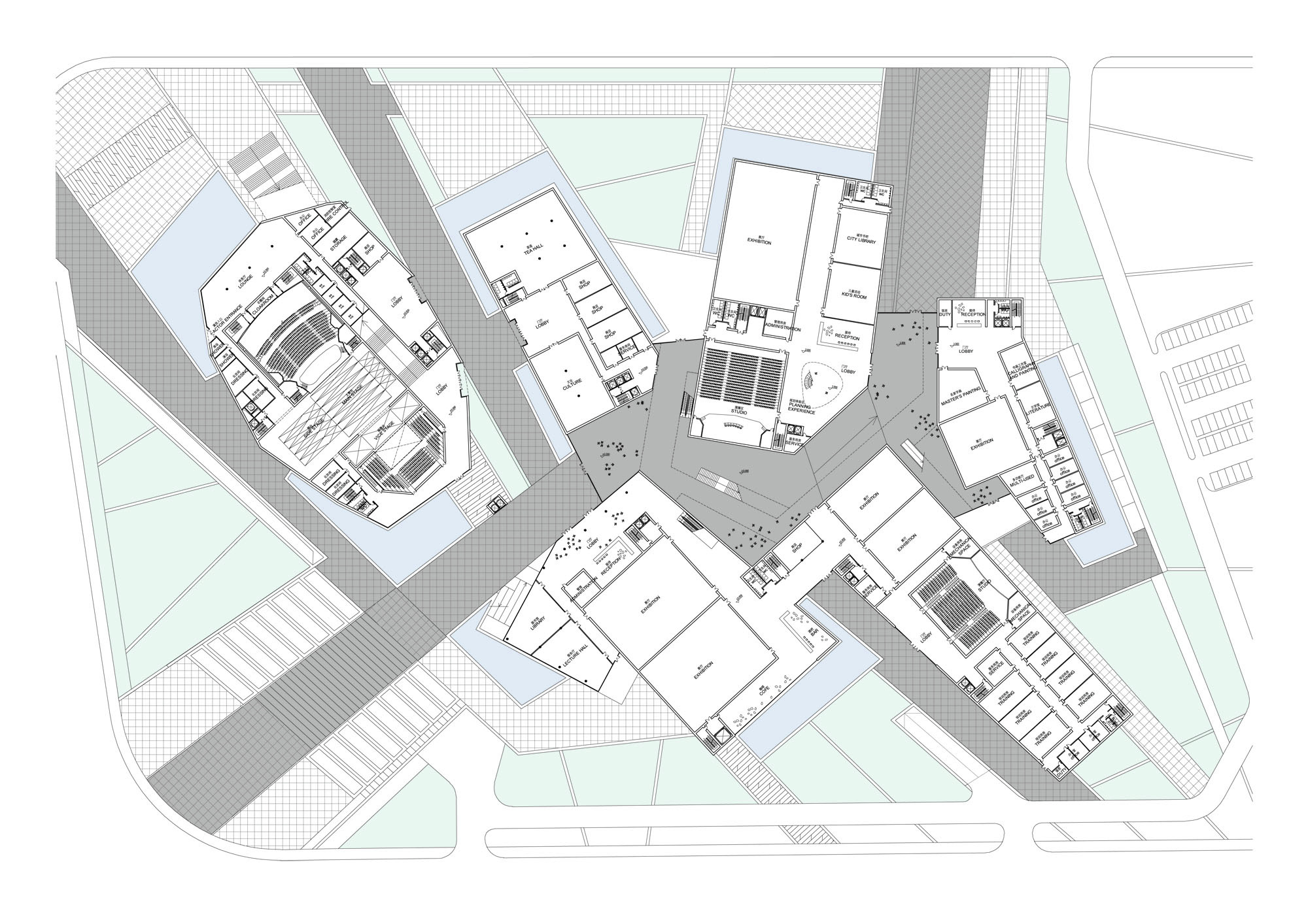 Mosque Floor Plan Gallery Of Huaihua Theater And Exhibition Center Proposal