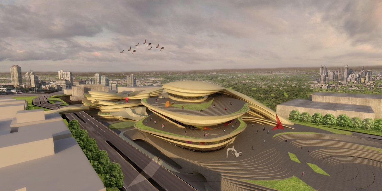 center architectural competition architects buensalido theatre performing arts philippines architecture artist ccp aerial rendering cultural entry aeccafe evolo archdaily theater