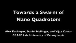 Video: Swarming Nano Quadrotors Fly in Formation
