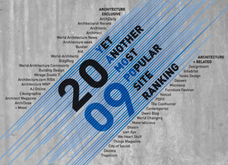 Popular Architecture yamopo 2009: yet another most popular architecture sites ranking