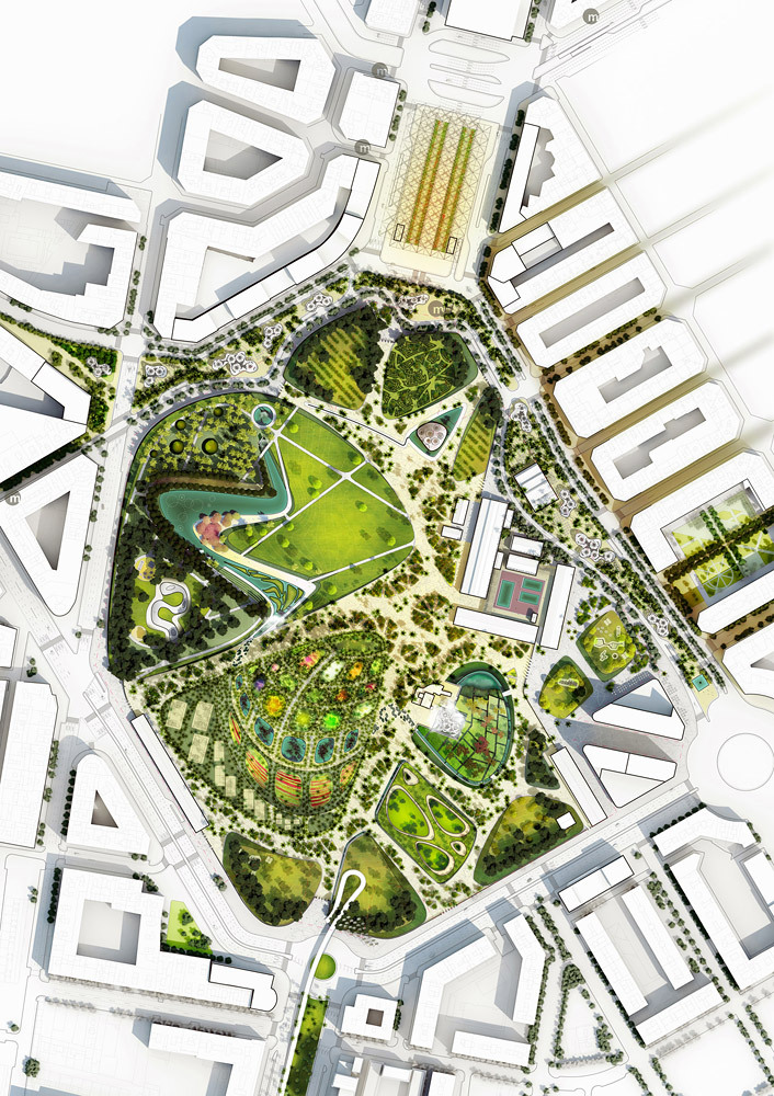 Gallery of valencia parque central proposal west 8 7 for West 8 architecture