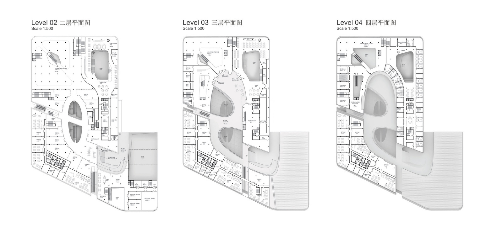 South West Hotel Compeion Proposal Henn Architects Plans
