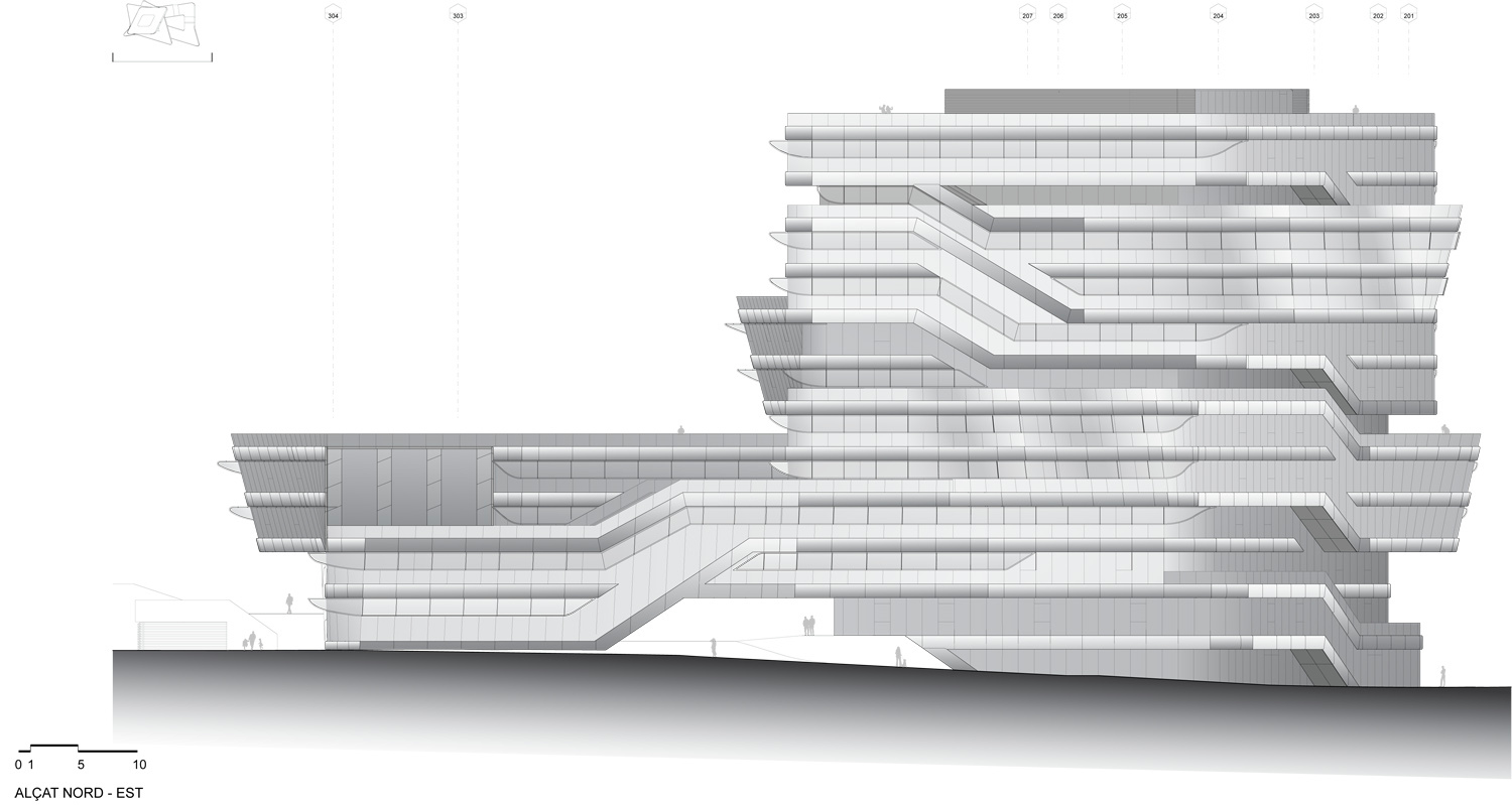Gallery Of First Stone Of The Spiral Tower By Zaha Hadid