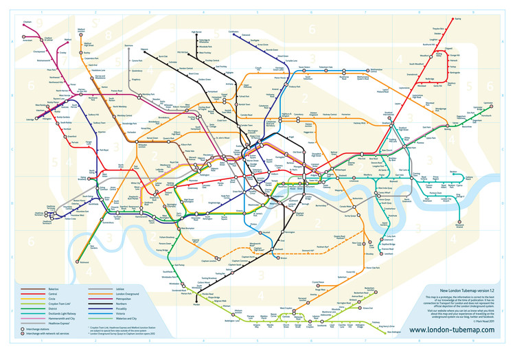 A new vision for London\'s Tube Map | ArchDaily