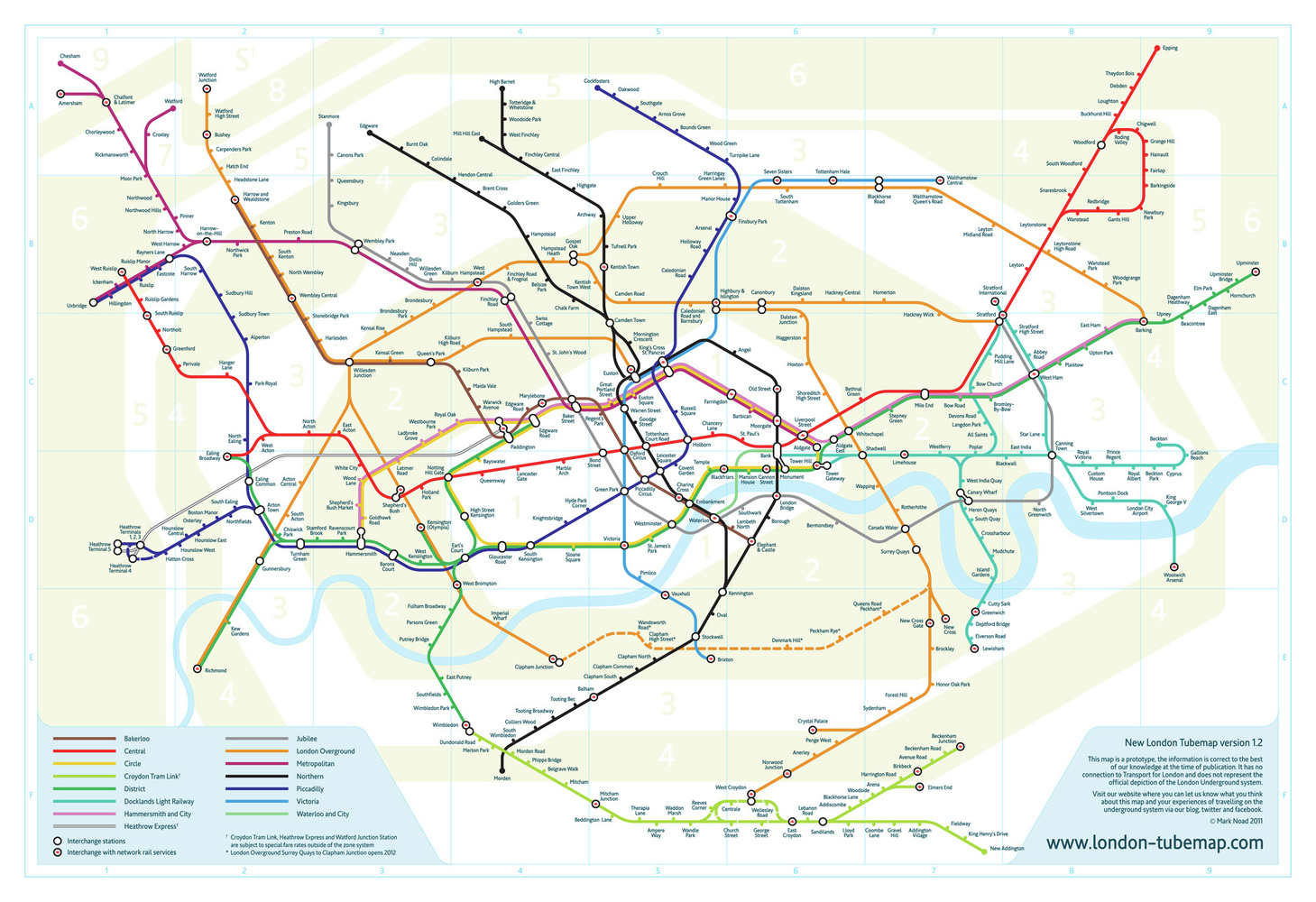 Gallery of A new vision for Londons Tube Map 1
