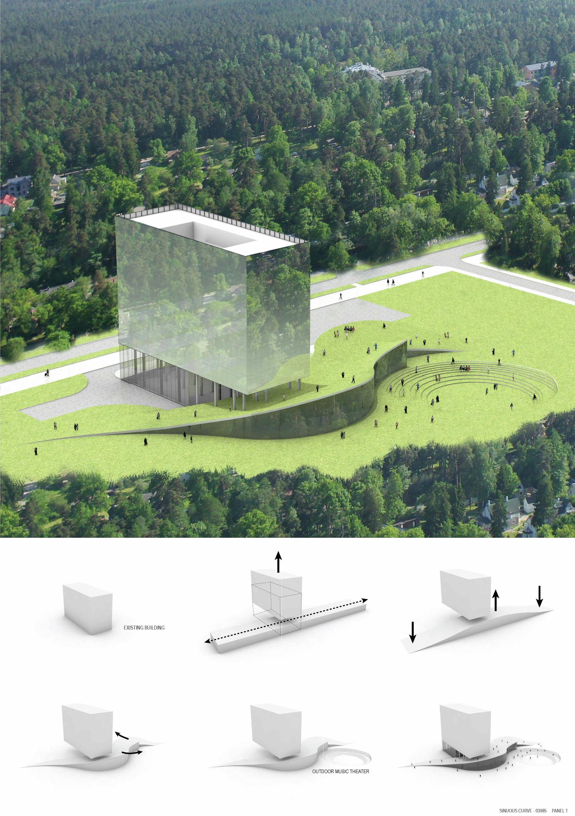 Hotel Liesma Proposal Nobutaka Ashihara Architect 2 4 Competition Board 01