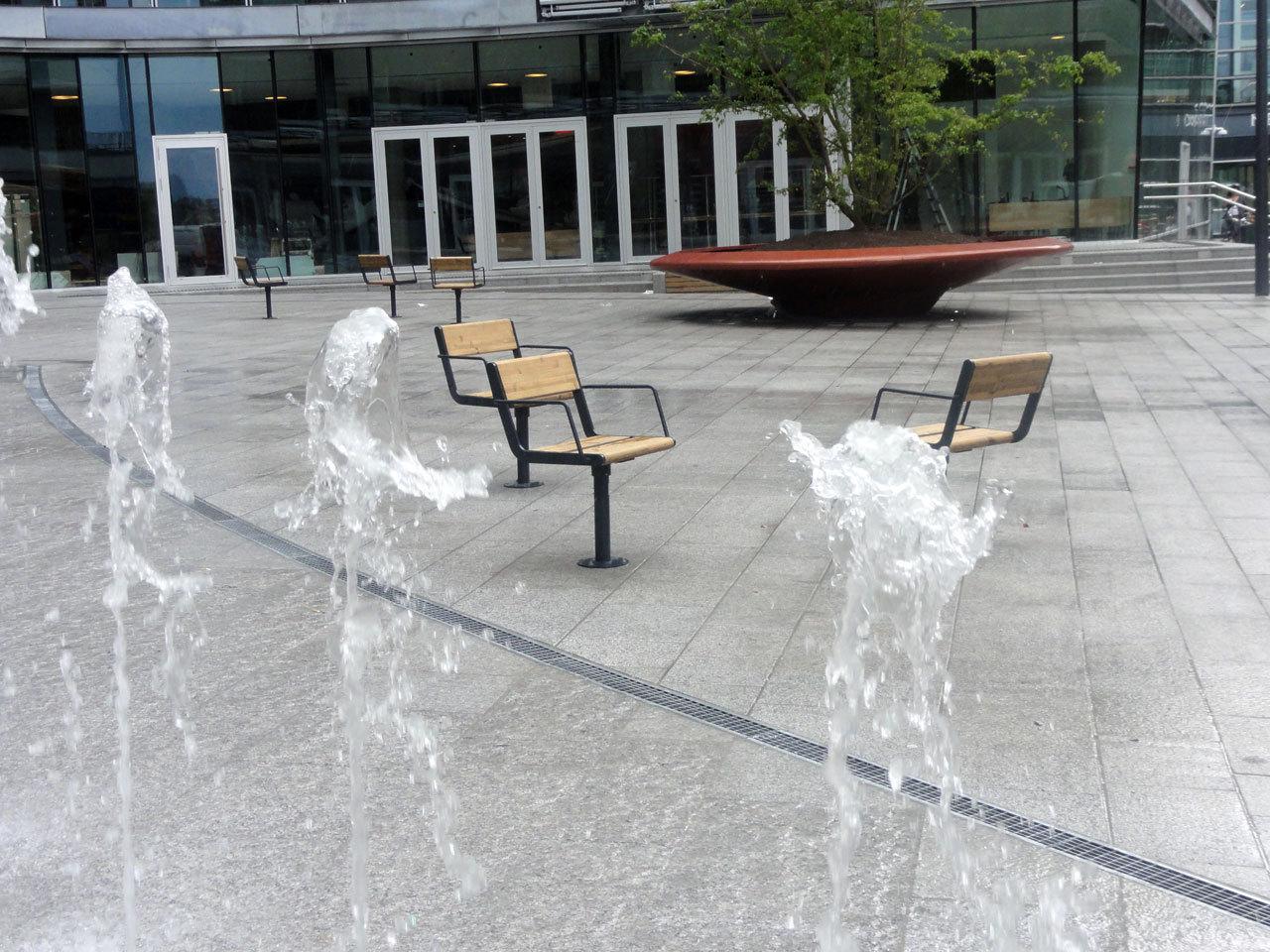Gallery Of Lorenskog Central Square Ostengen Bergo AS