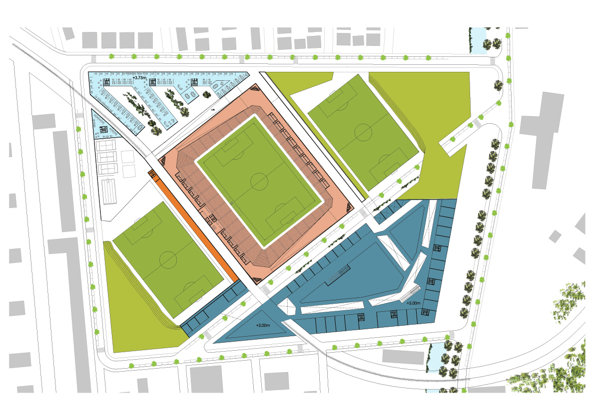 Gallery of 'The Crown of Septiemvri' Soccer Stadium Proposal / Gras