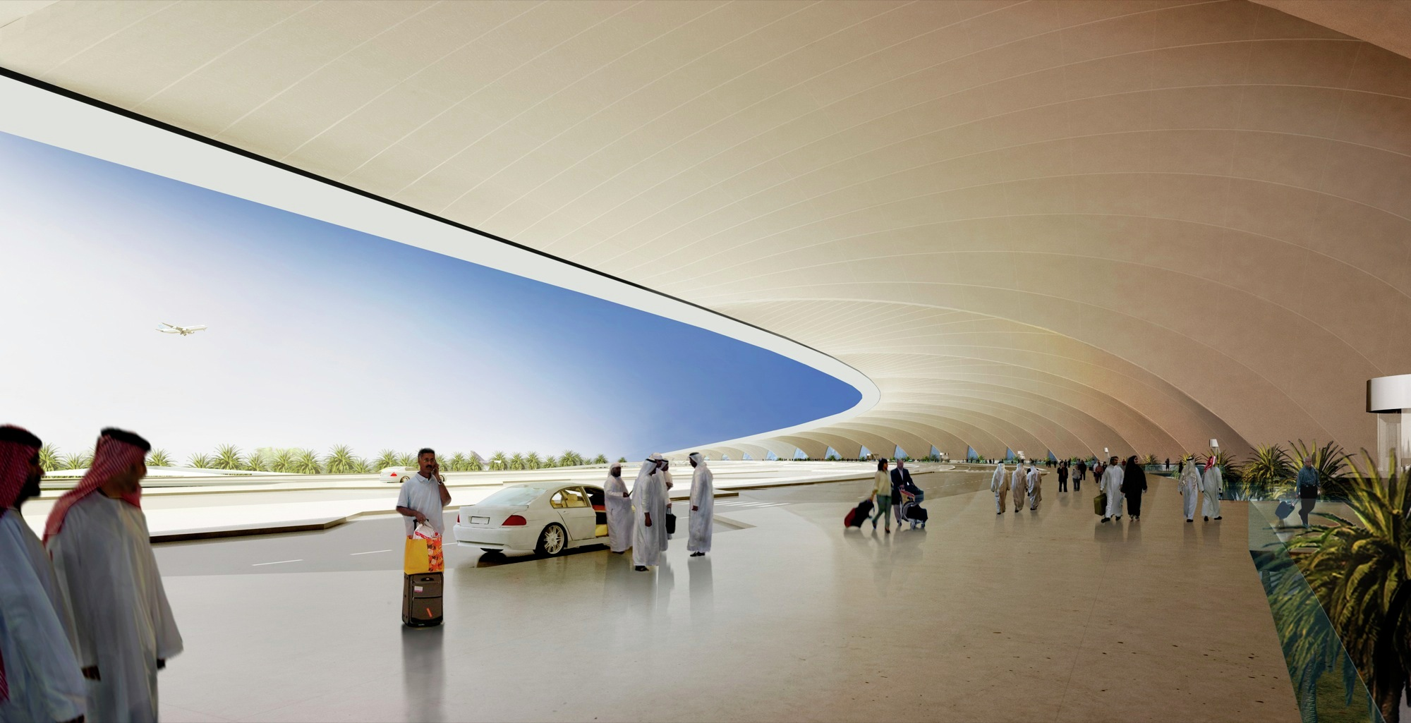 Kuwait International Airport Foster Partners Archdaily