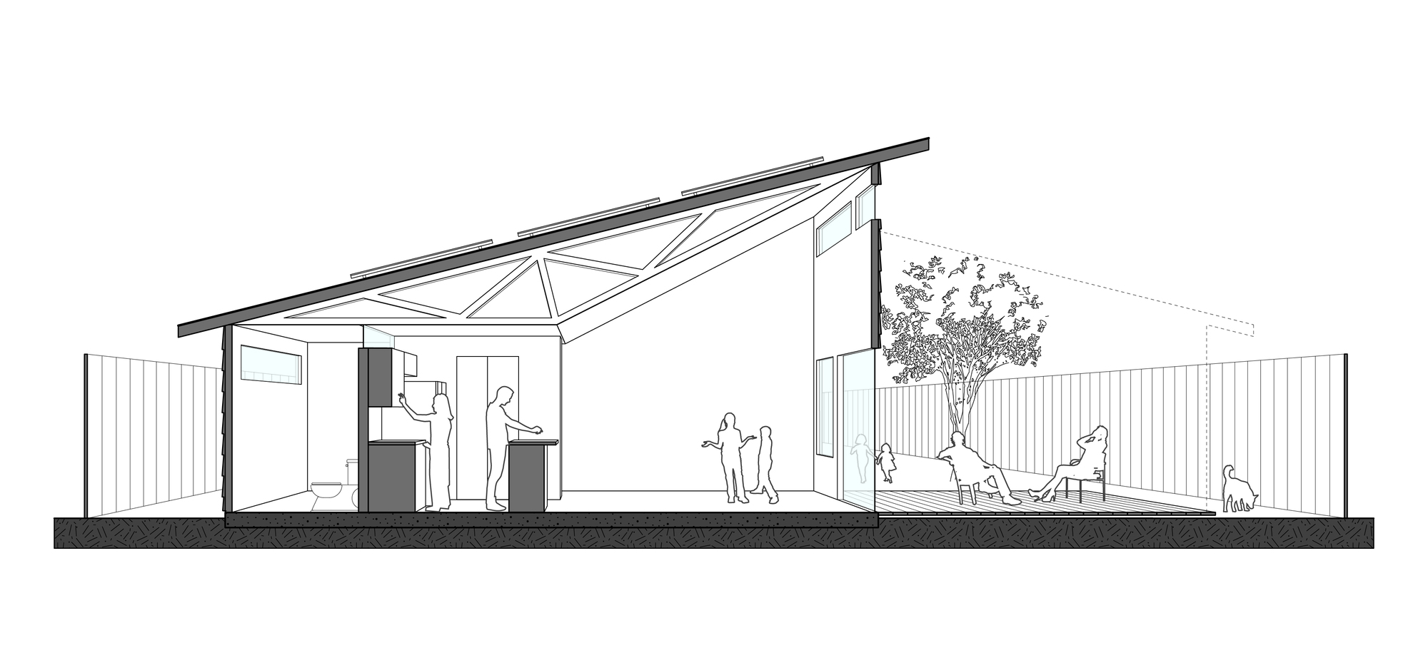 Gallery of habitat for humanity adopts student house for Clerestory roof truss design