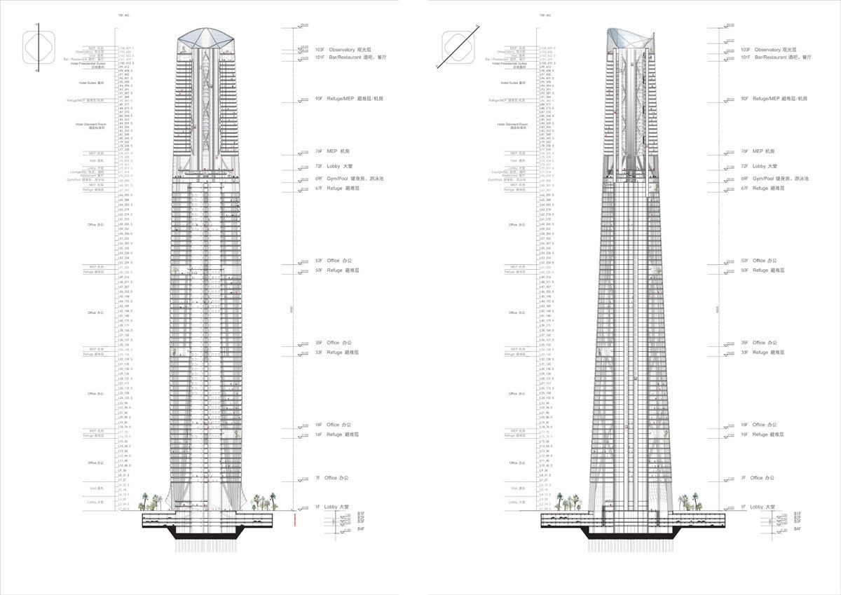 Gallery Of Haikou Tower Competition Winner Henn 13