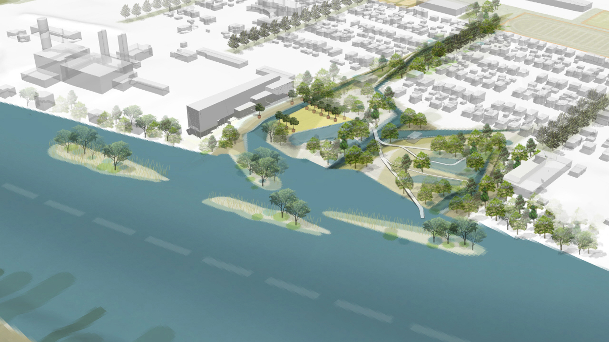 Gallery Of Minneapolis Riverfront Competition Finalist