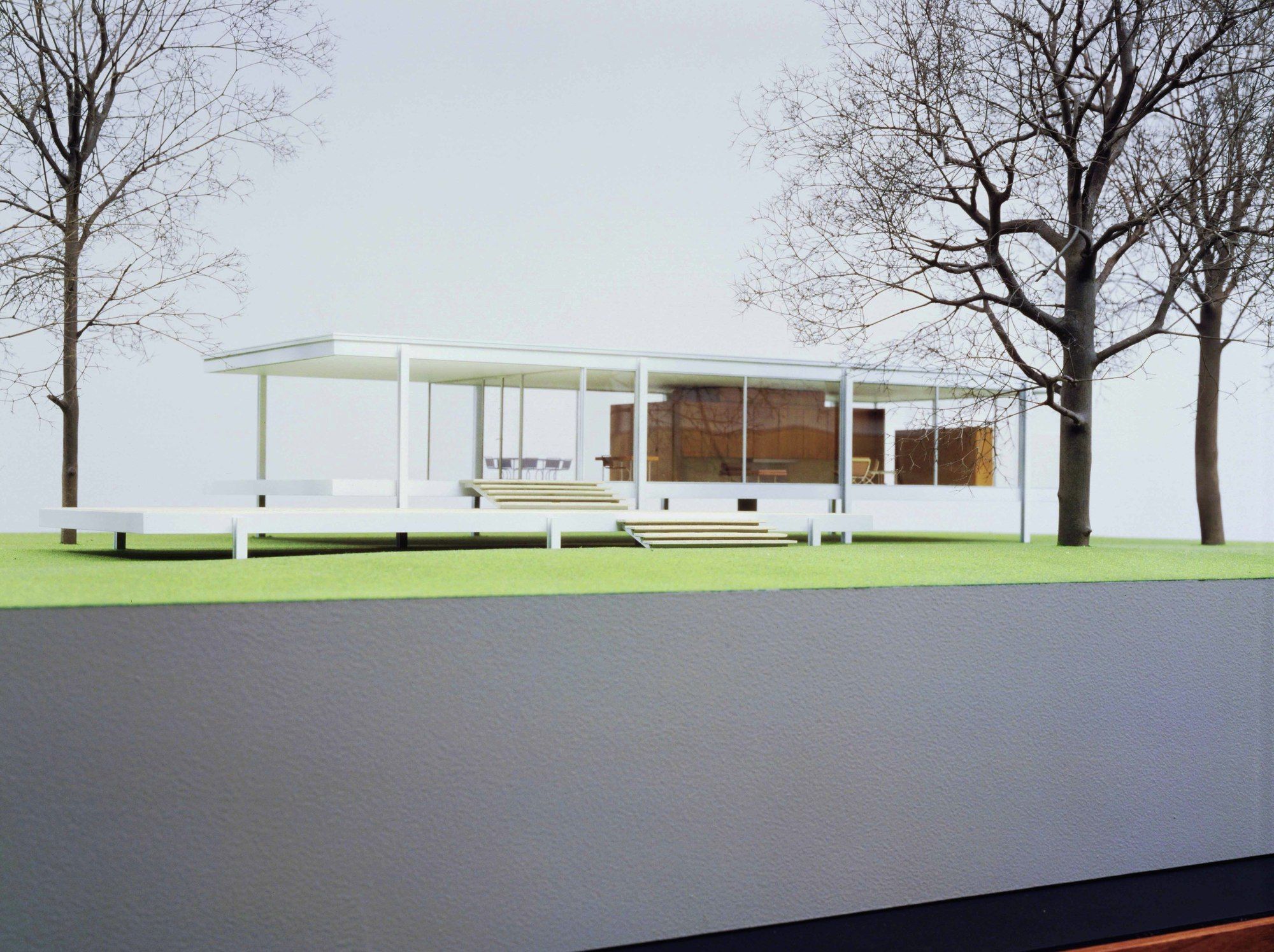 Delightful Model Of Mies Van Der Roheu0027s Farnsworth House, Plano, Illinois (1945u201351