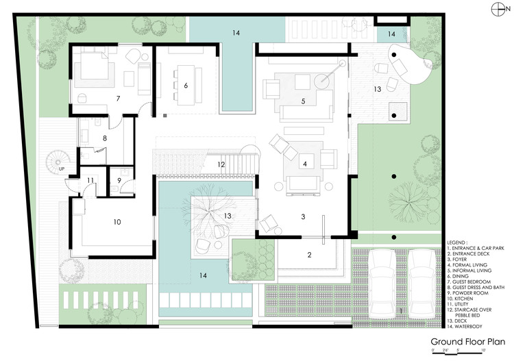 Courtyard house abin design studio archdaily Modern courtyard house plans