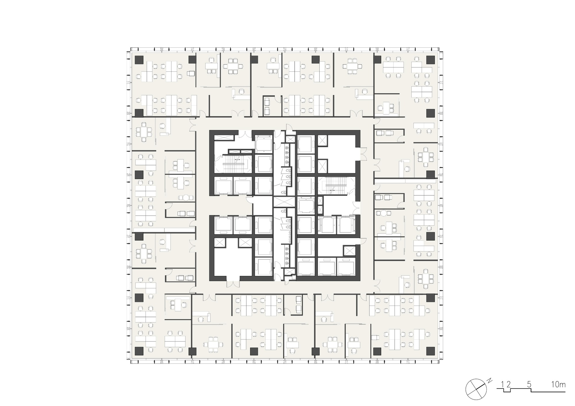 Typical Floor Plan Gallery Of Jiangxi Nanchang Greenland Zifeng Tower Som 8